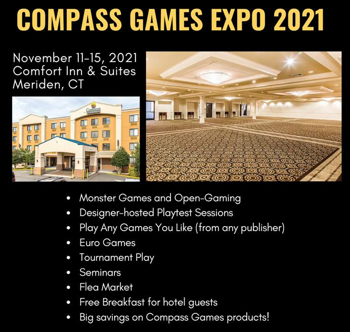 Compass Games Expo, Nov. 11-15, 2021