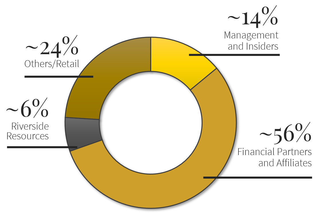 Carlyle Commodities Corp. Shareholder Breakdown Pie Chart