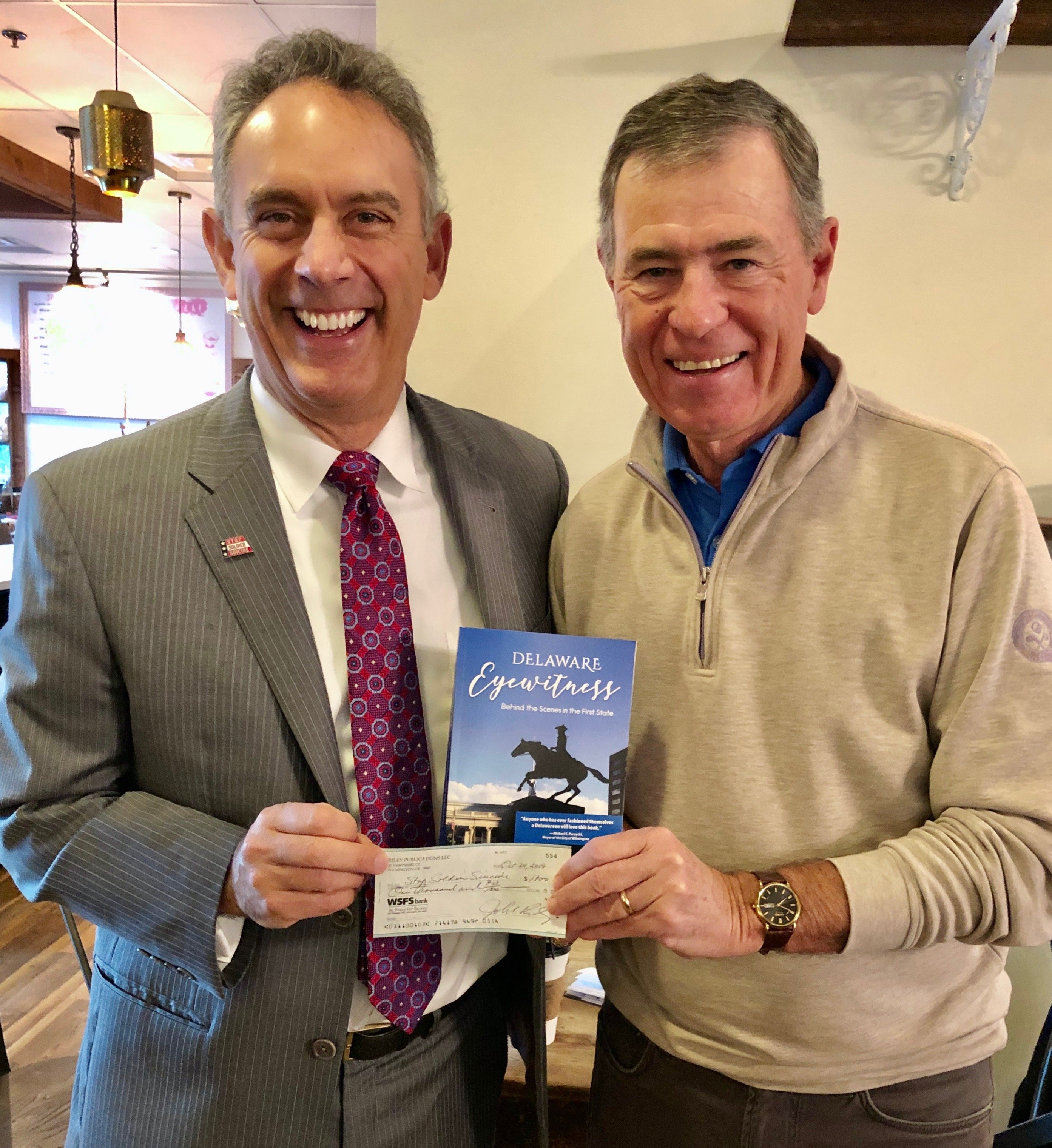"New Delaware book proceeds donated to ""Stop Soldier Suicide"""