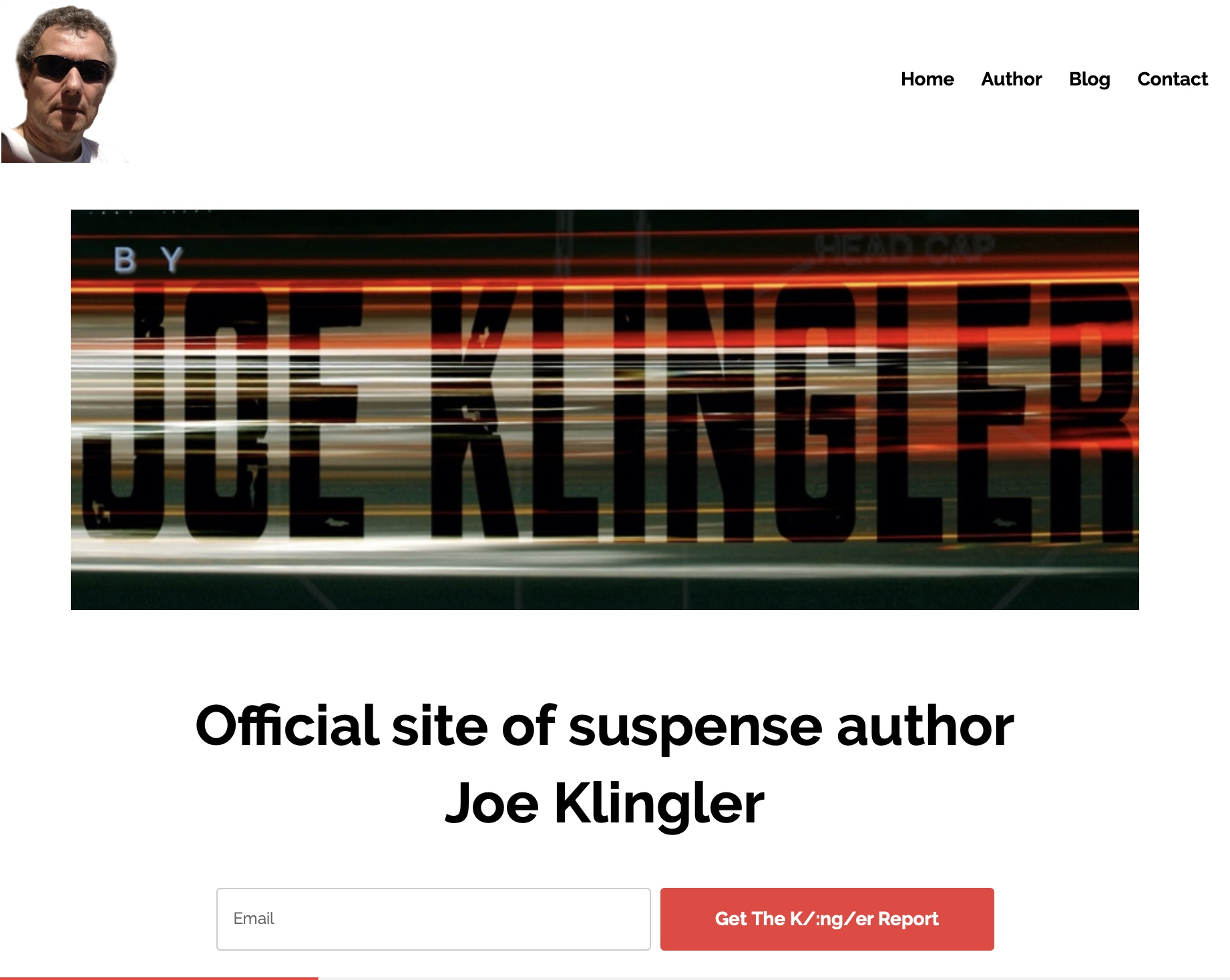 Welcome to the new website of suspense writer Joe Klingler