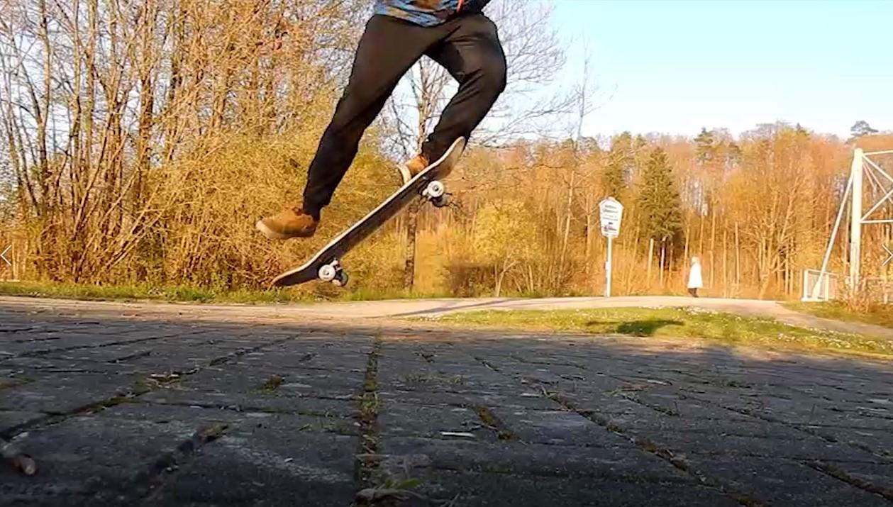 my skateboard ollie progress video thumbnail