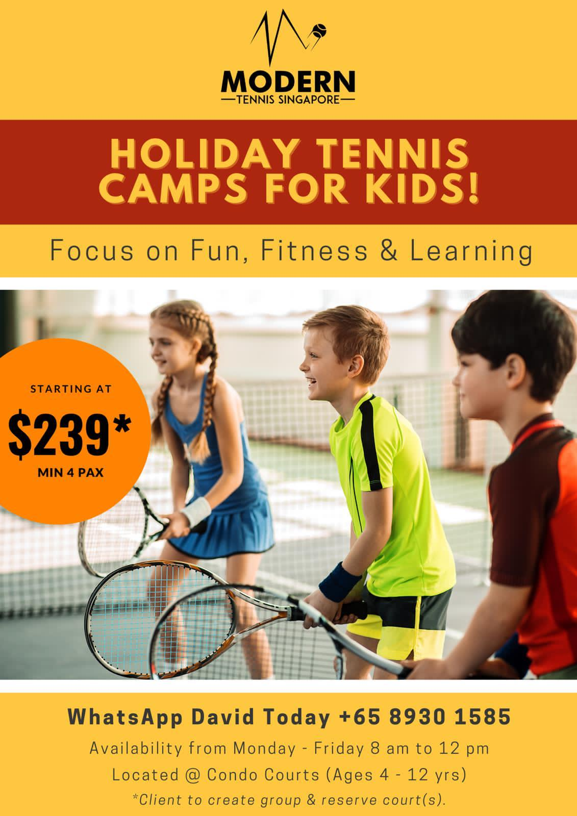 Modern Tennis Holiday Camp Dec 2020