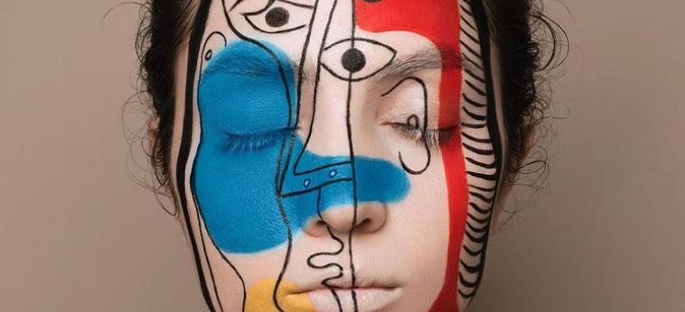 Femme maquillage drapeau Français