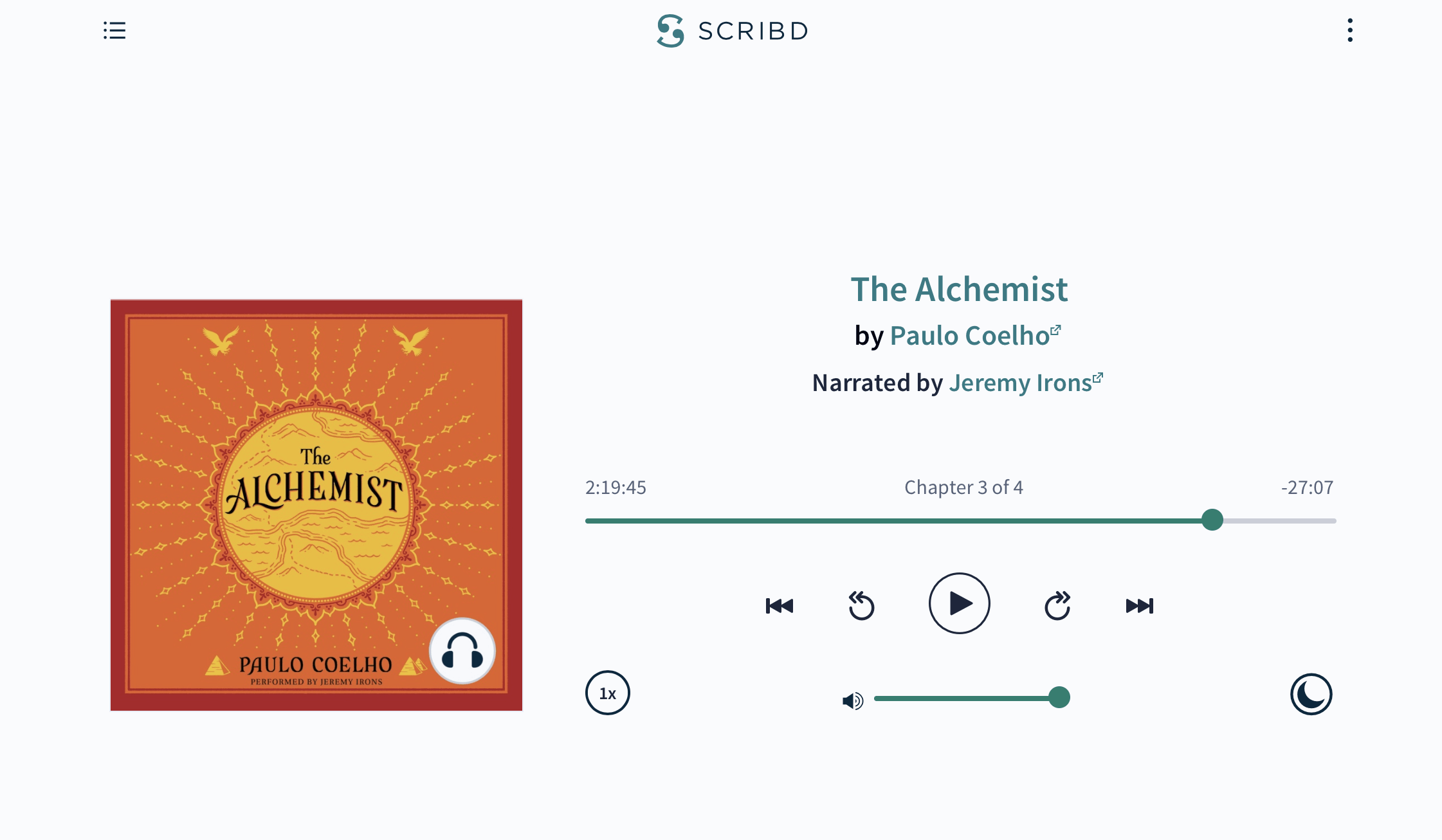 The Alchemist audiobook on Scribd