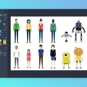 Character graphics on Visme