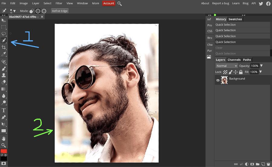 Photopea interface