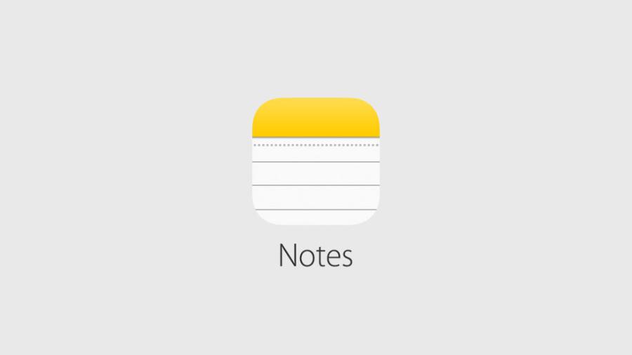 iPhone notes app logo