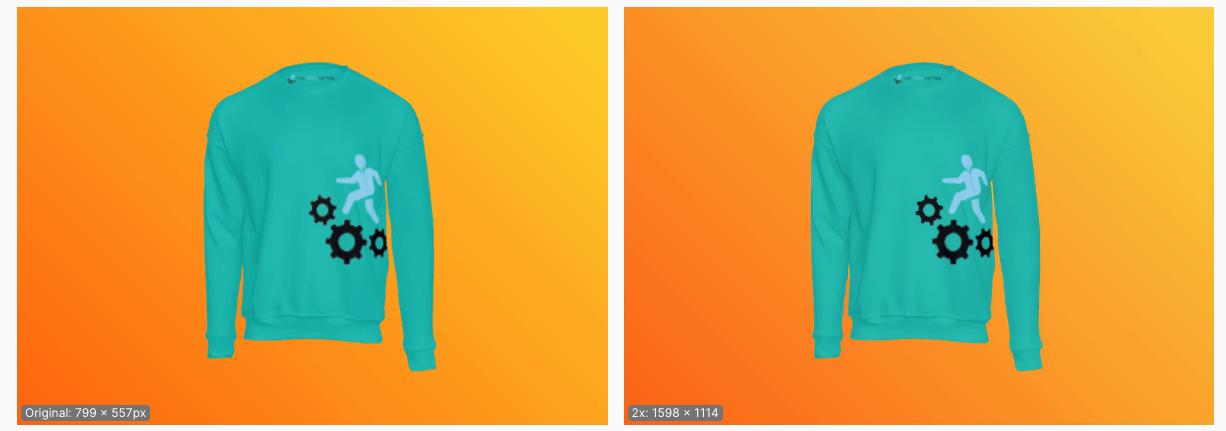 Using upscaler to enhance image