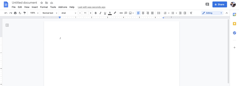 Blank Google Doc