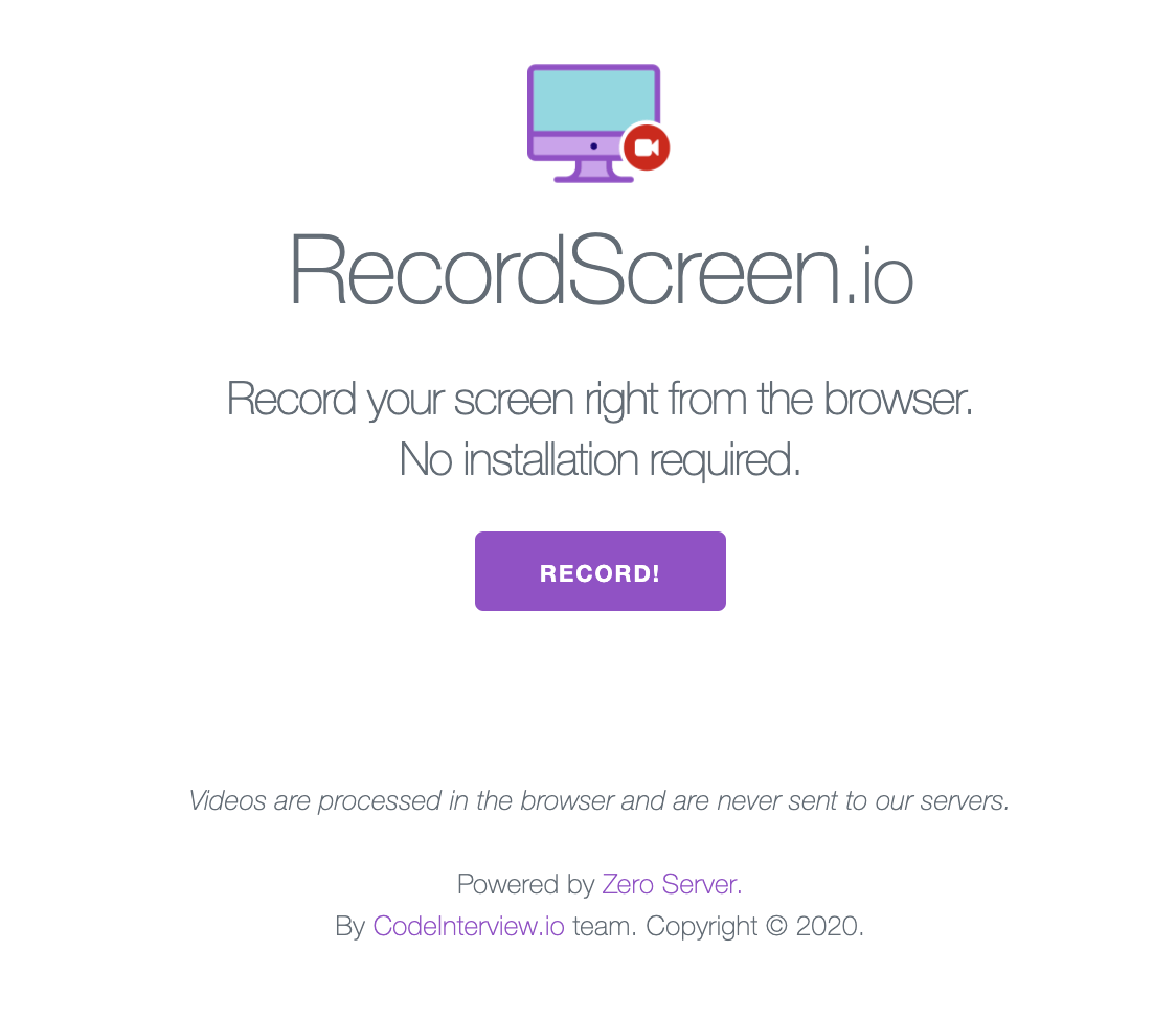 RecordScreen.io website
