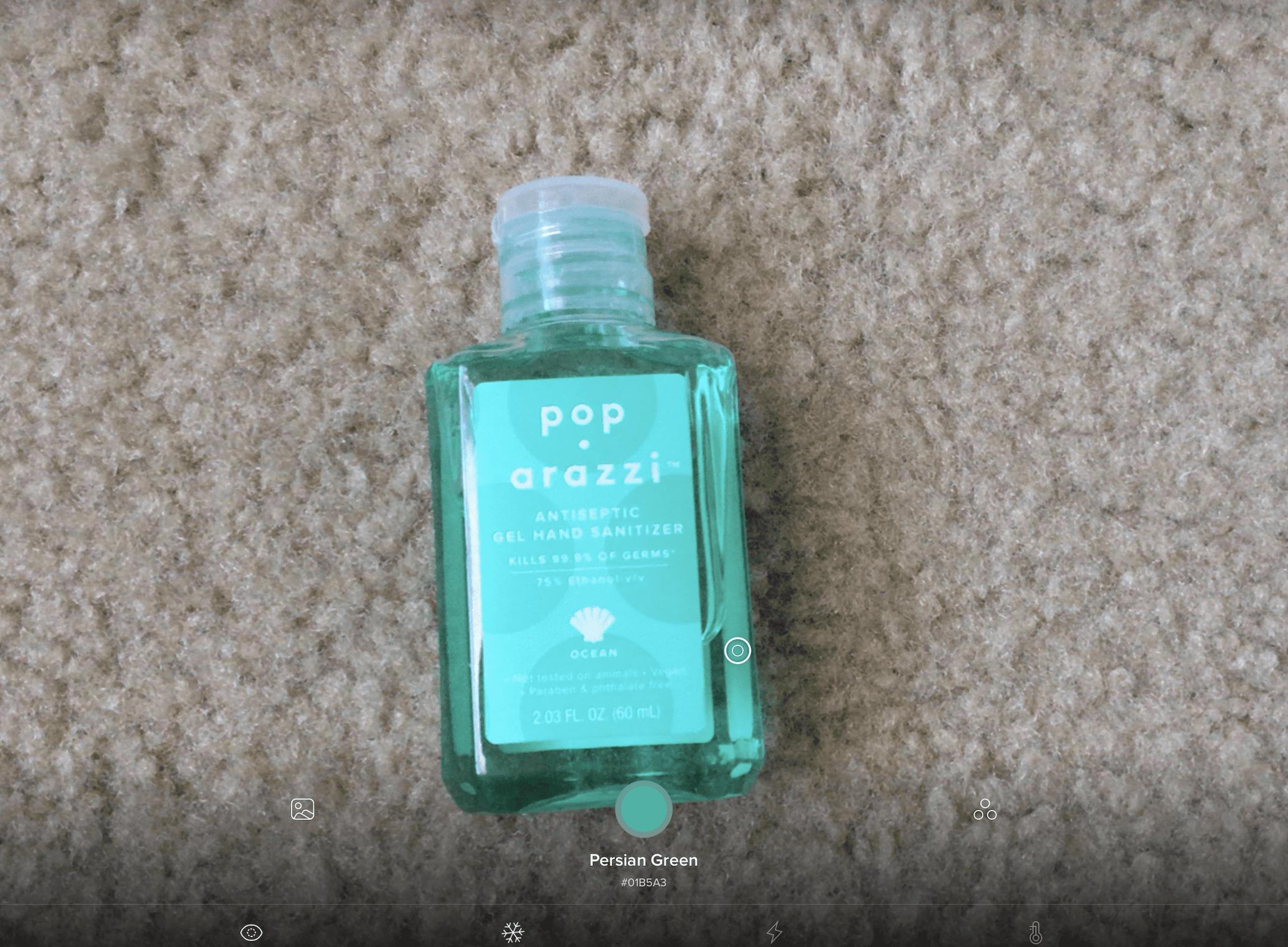 Bottle of hand sanitiser