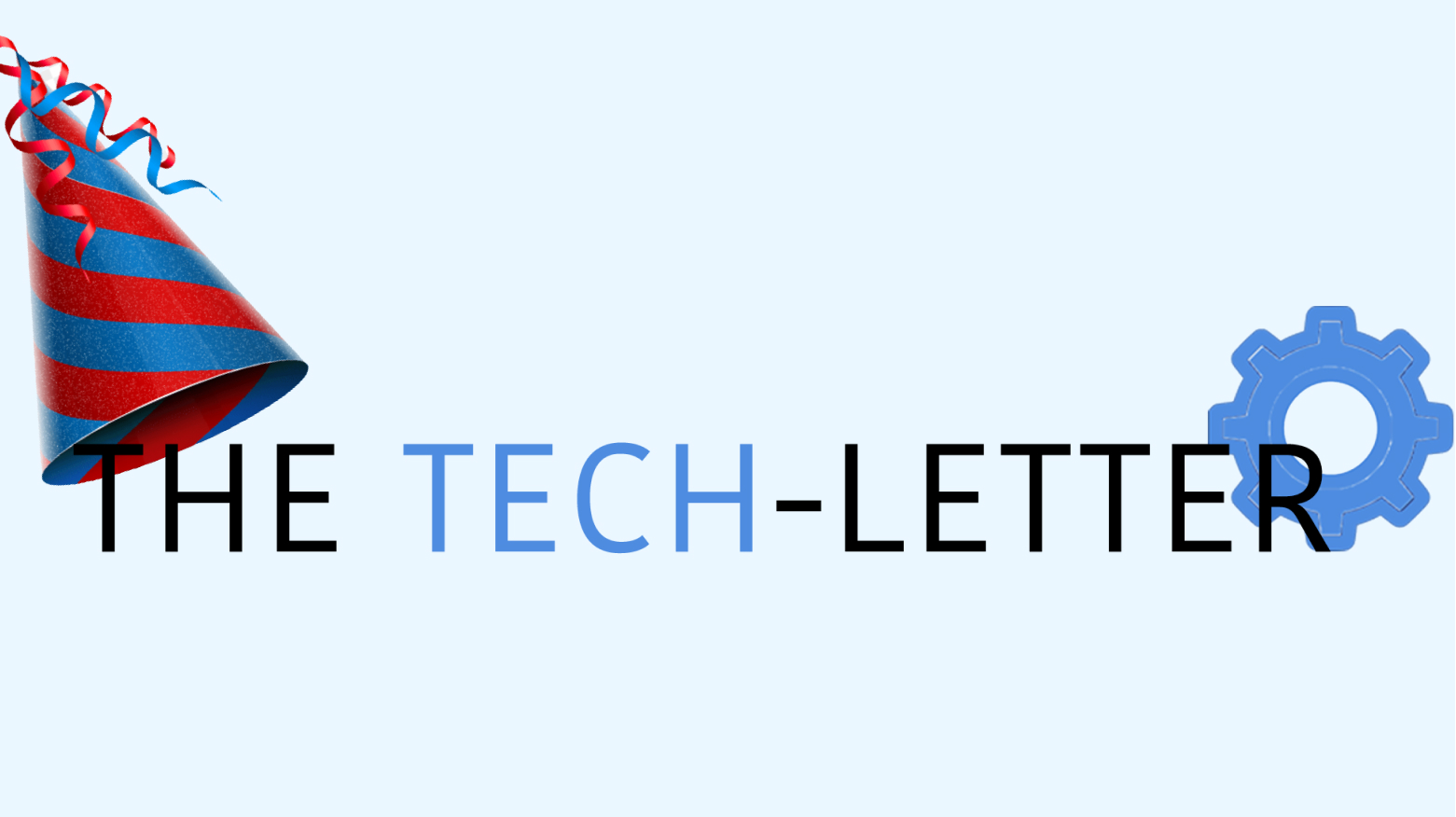 The tech-letter logo with birthday cap