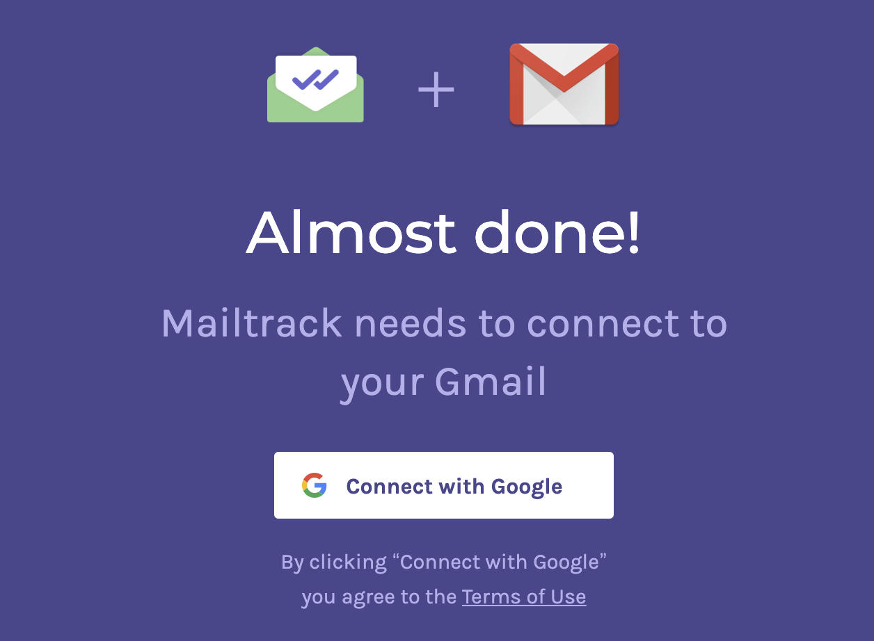 Connecting Gmail to Mailtrack
