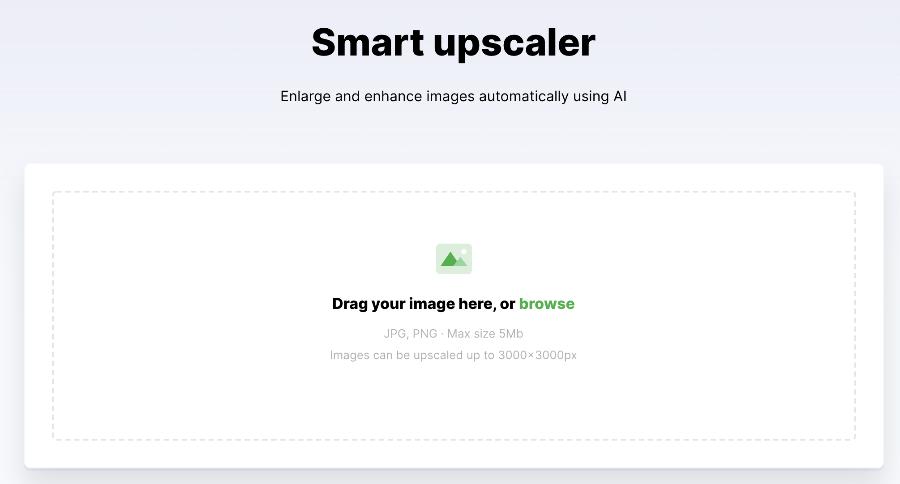 Smart Upscaler interface