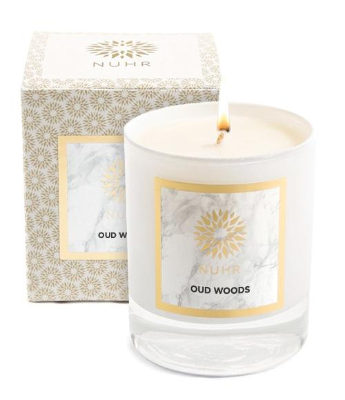 Oud Woods Classic Candle with packaging