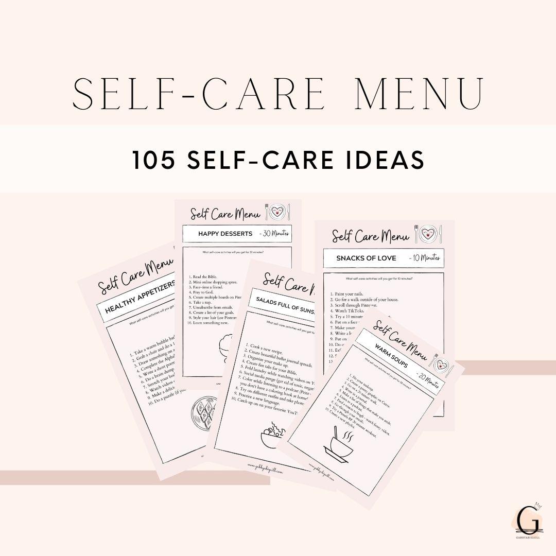 Self Care Menu The 20 Best Self Care Ideas   GABBYABIGAILL