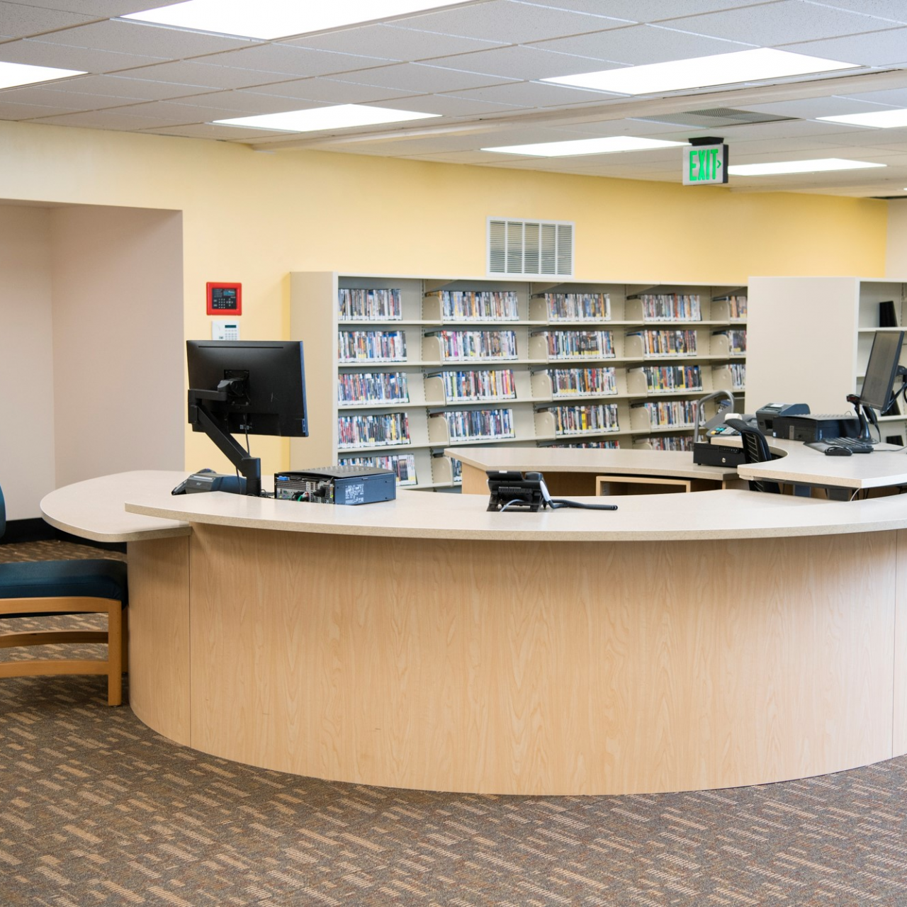 round service desk at a library