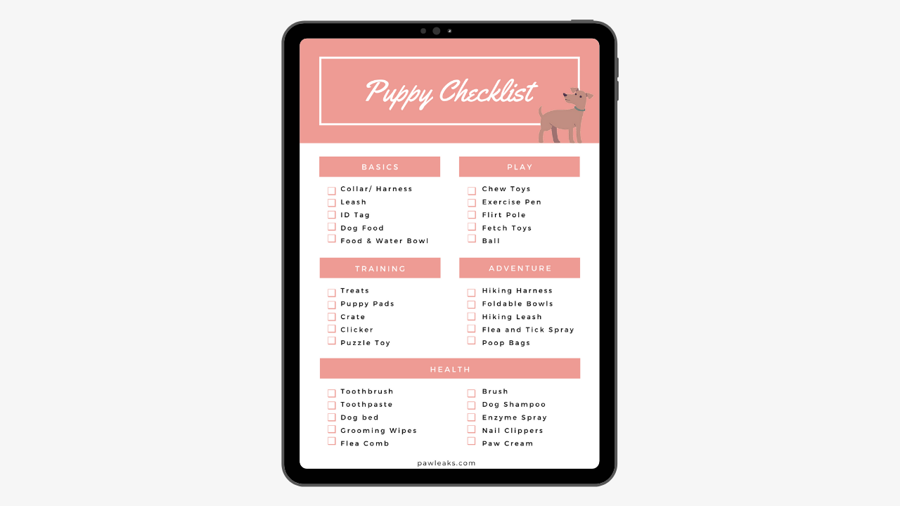 Ultimate Printable New Puppy Checklist For 2020 Pawleaks