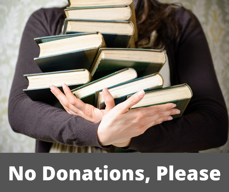 Please Hold on to Your Donations