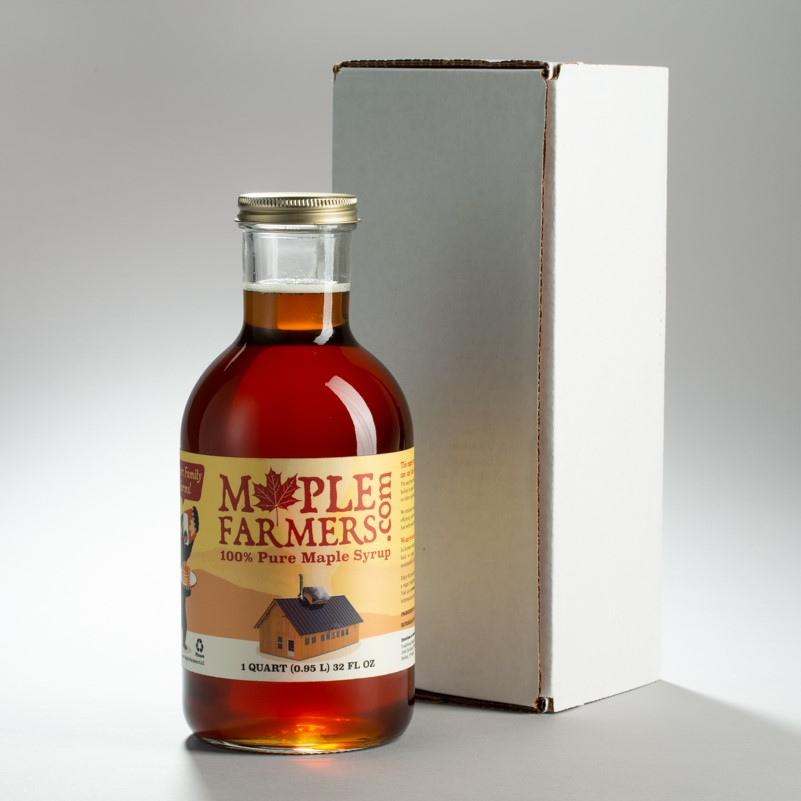 Pure Vermont maple syrup from a small family farm.