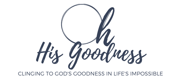 Oh His Goodness email sign up