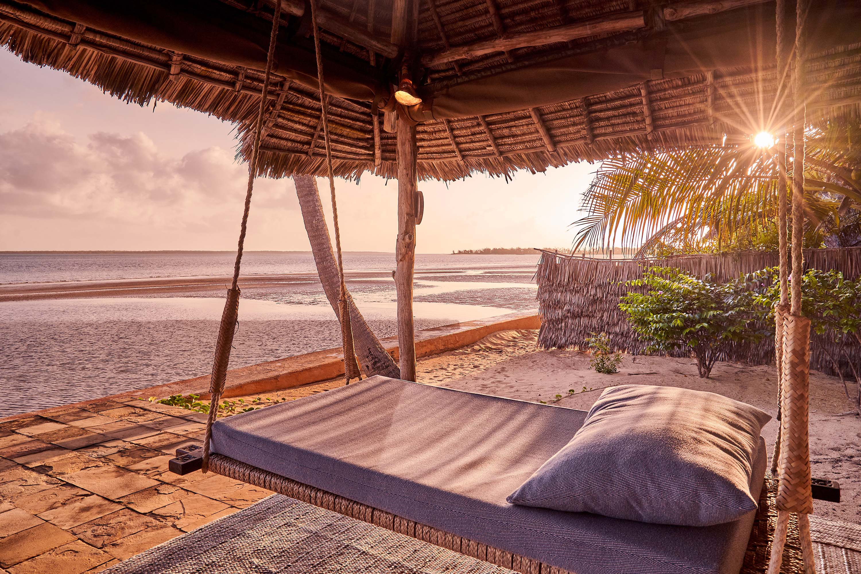 Daybed by the beach
