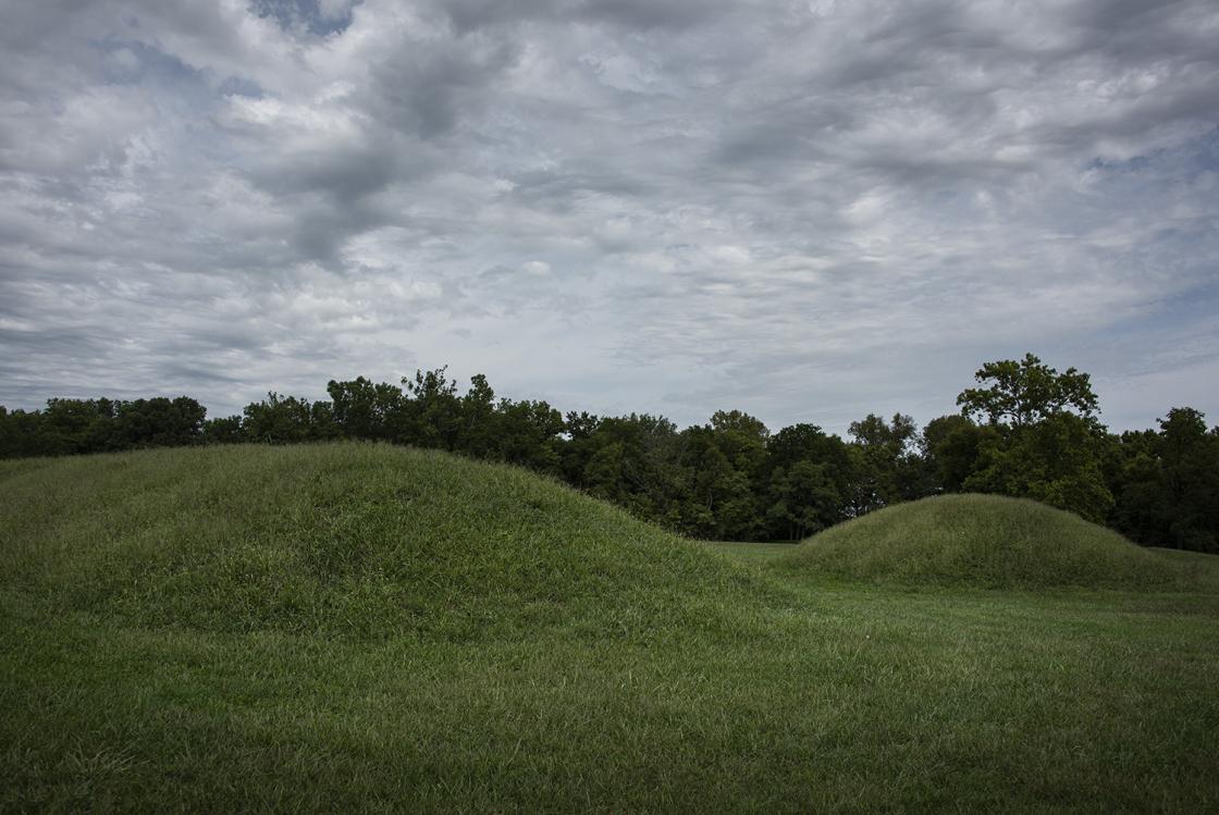 Two mounds at Mound City Ohio
