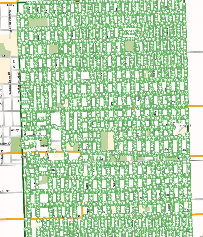 Tree inventory map