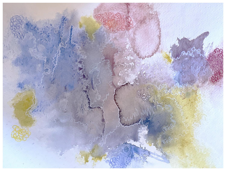 Watercolor of Salton Sea California   DJ Lee witness wilderness