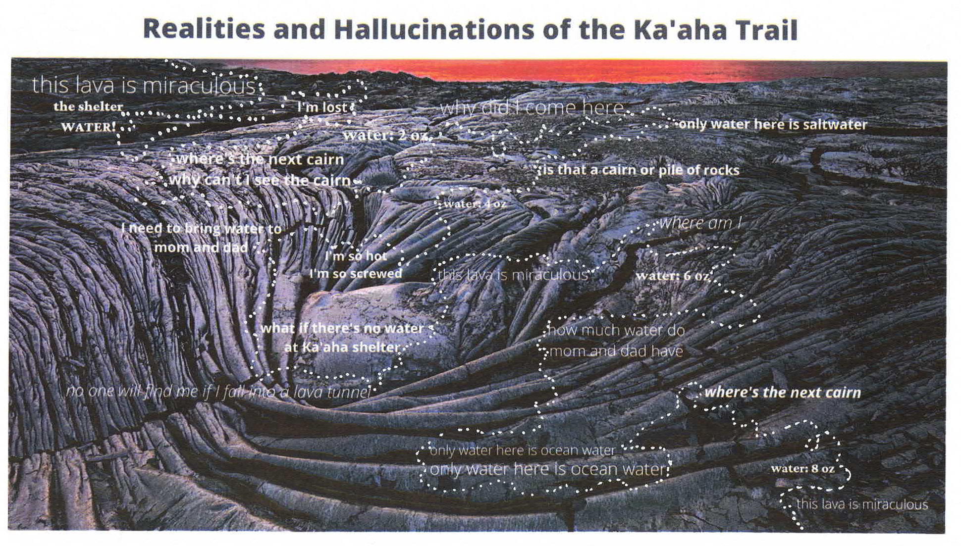 mental map of Ka'aha Trail Hawaii | DJ Lee witness wilderness