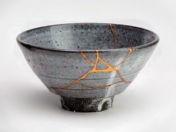 bowl with cracks filled with gold