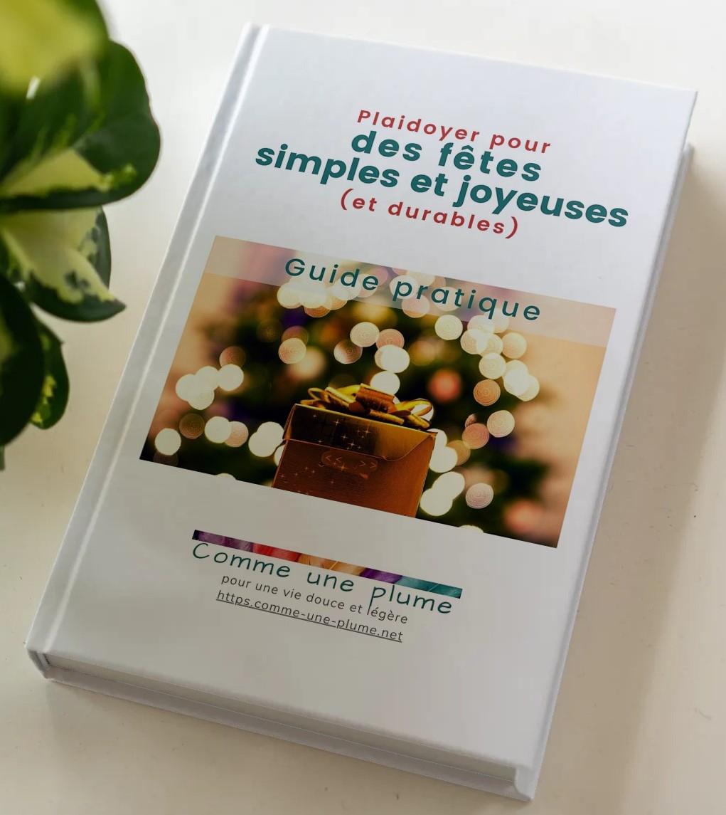 Empare-toi de TON guide pratique Plaidoyer pour des fêtes simples et joyeuses (et durables) !
