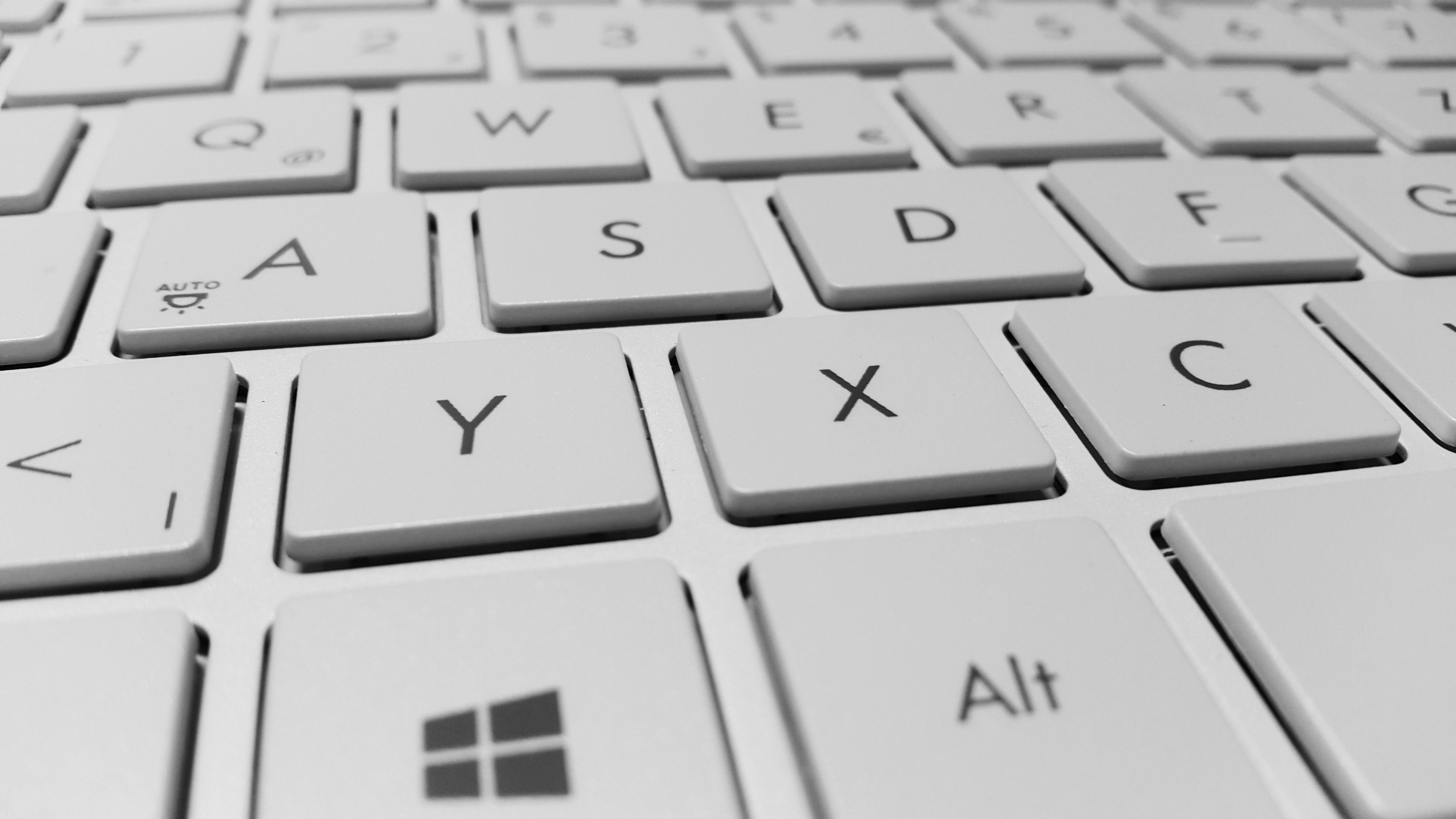 Close up photo of a laptop keyboard