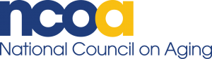 NCOA Logo: The letters NCO in blue and A in yellow with the words National Council on Aging beneath.