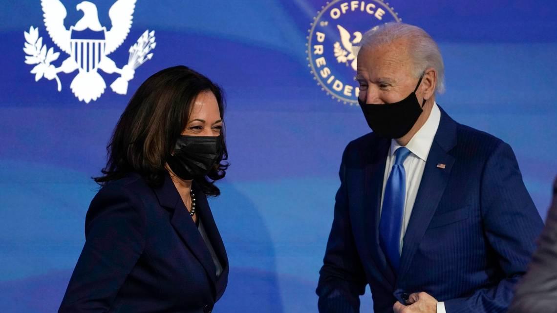 An image of president elect Joe Biden and Vice President Kamala Harris