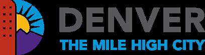 Denver Logo: Text - Denver The Mile High City Image: The letter