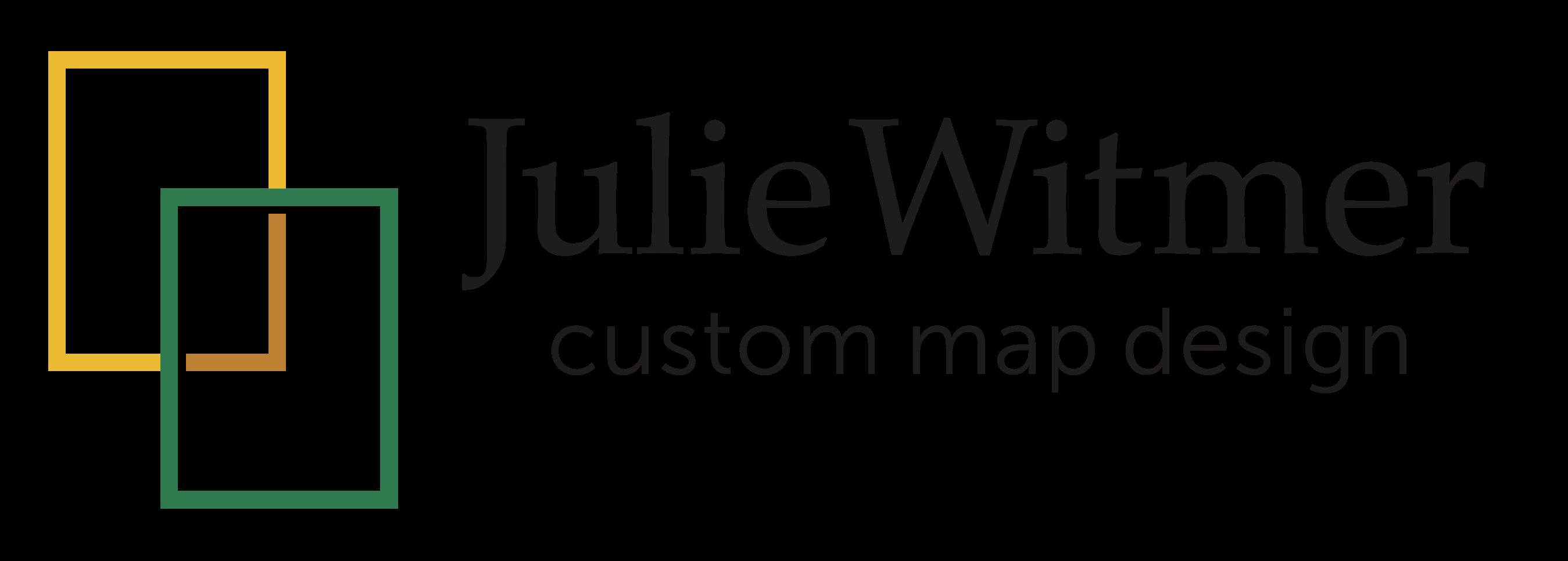 Julie Witmer Custom Map Design logo