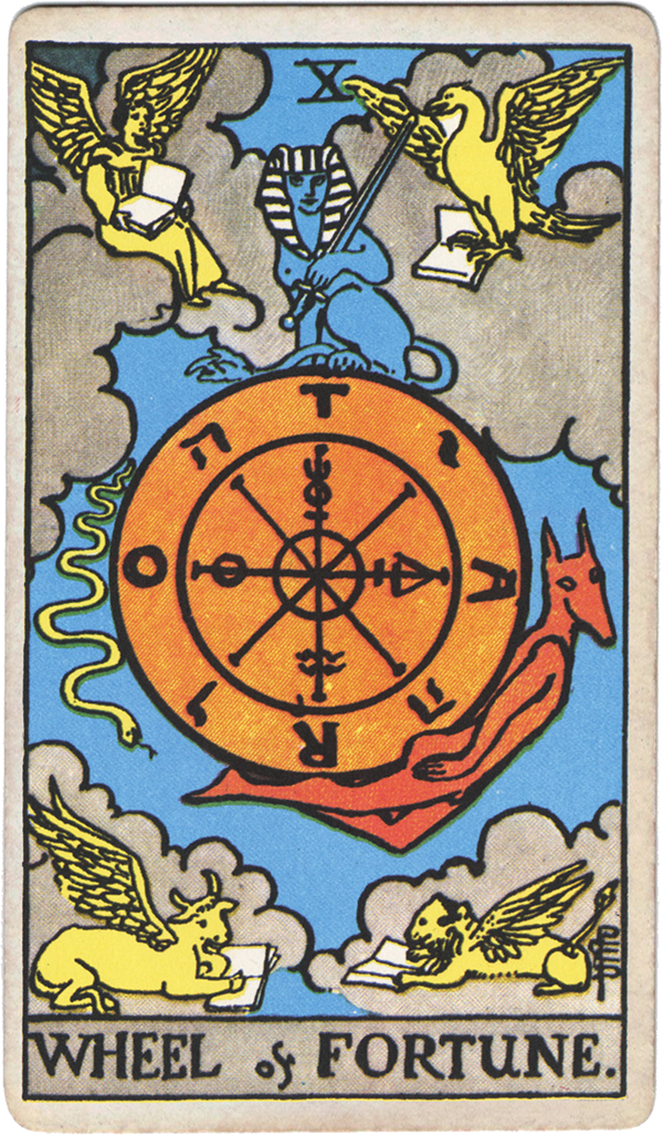 Original illustration from the Rider Waite tarot deck of The Sun as painted by Pamela Colman Smith.