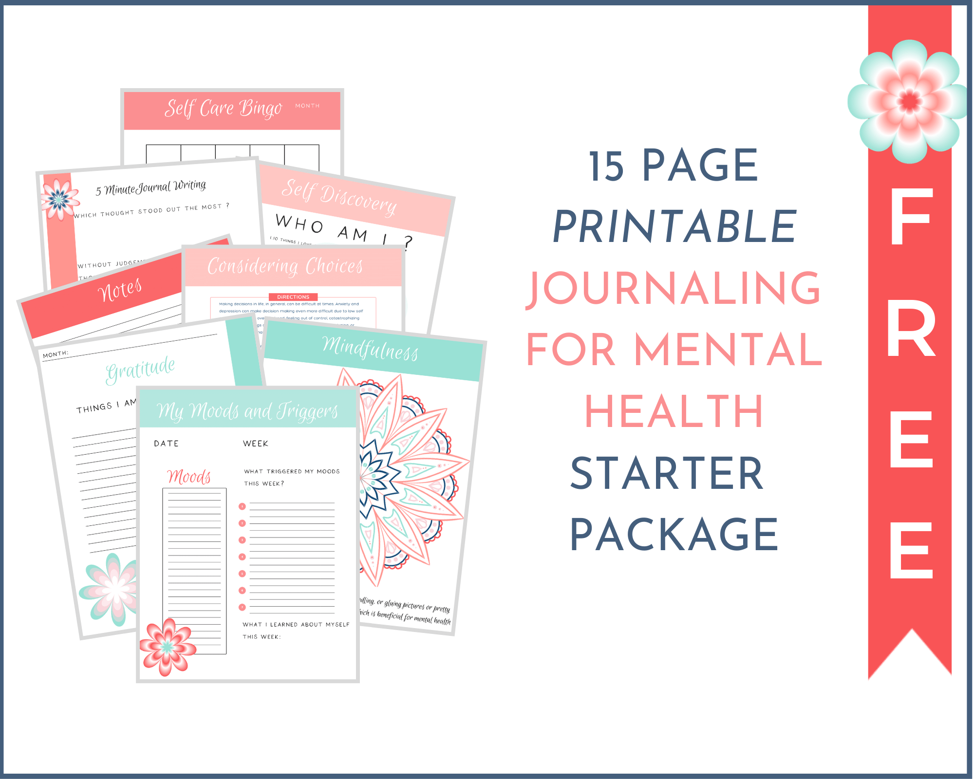 journaling for mental health free journaling pages