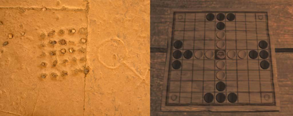 Seega game board and Tablut game board
