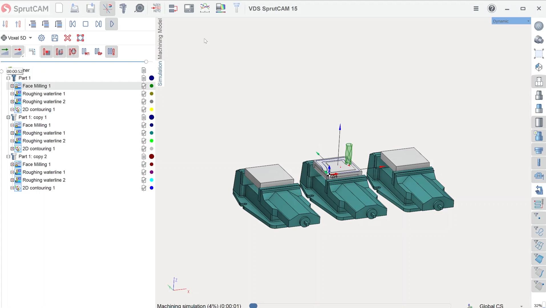 Combineren van parts in SprutCAM 15