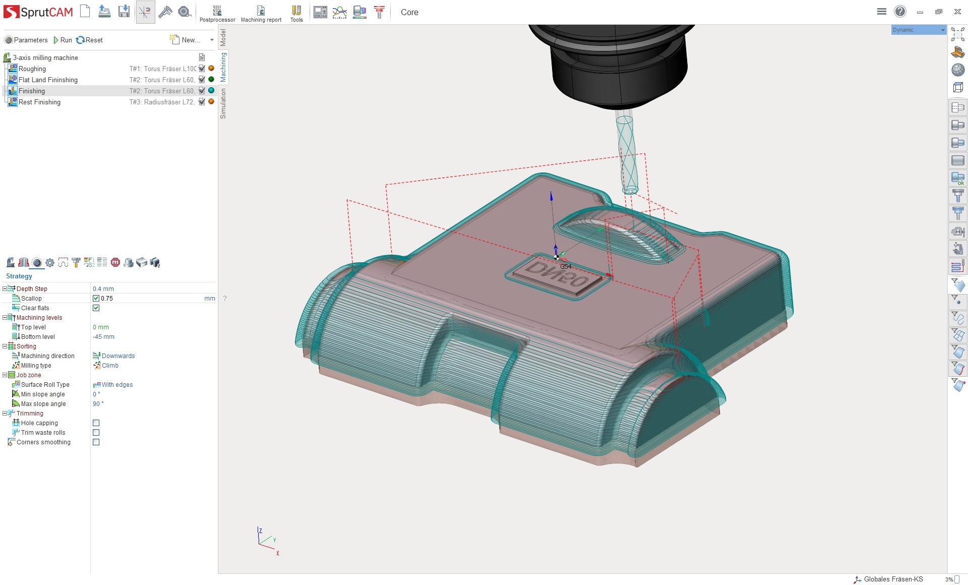 sprutcam 3D frezen