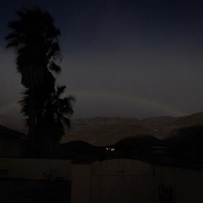 A rainbow at night