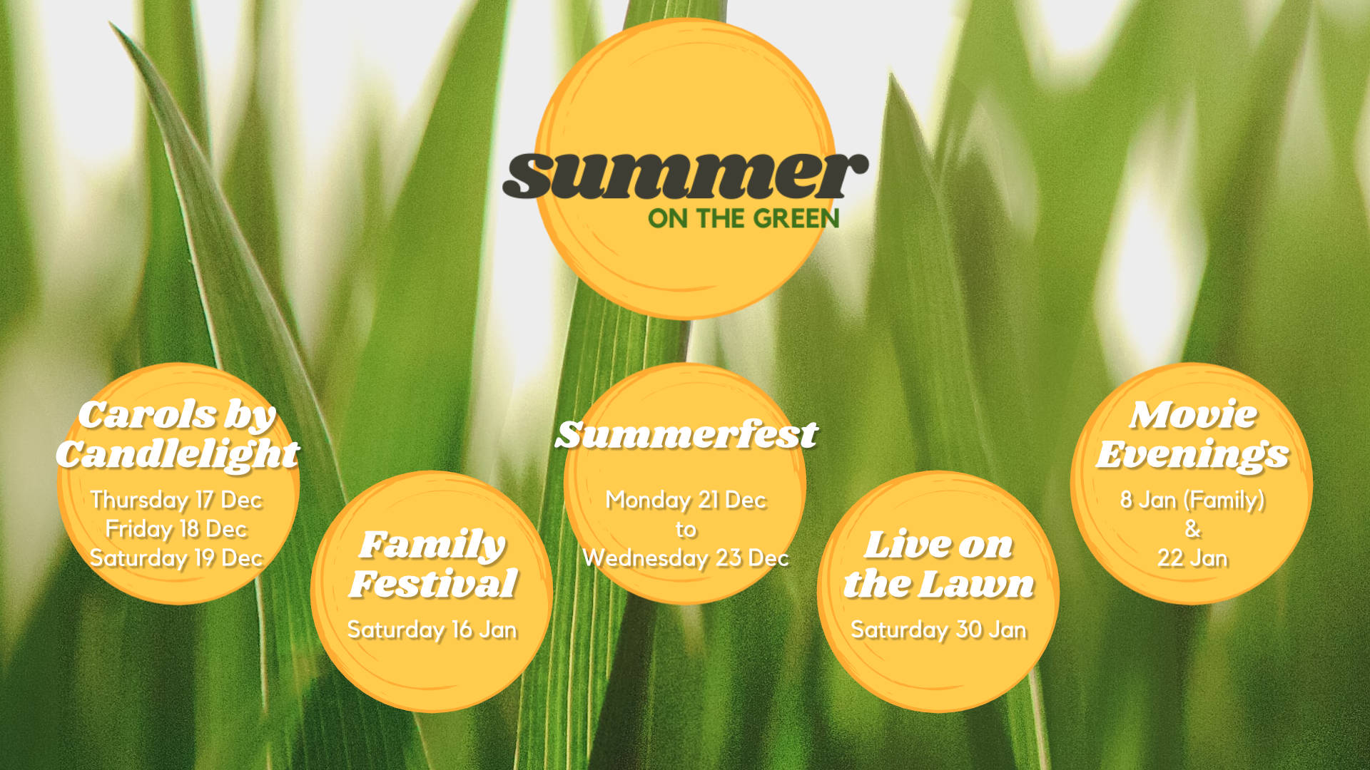 Summer on the Green Banner