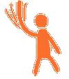 waving stick man