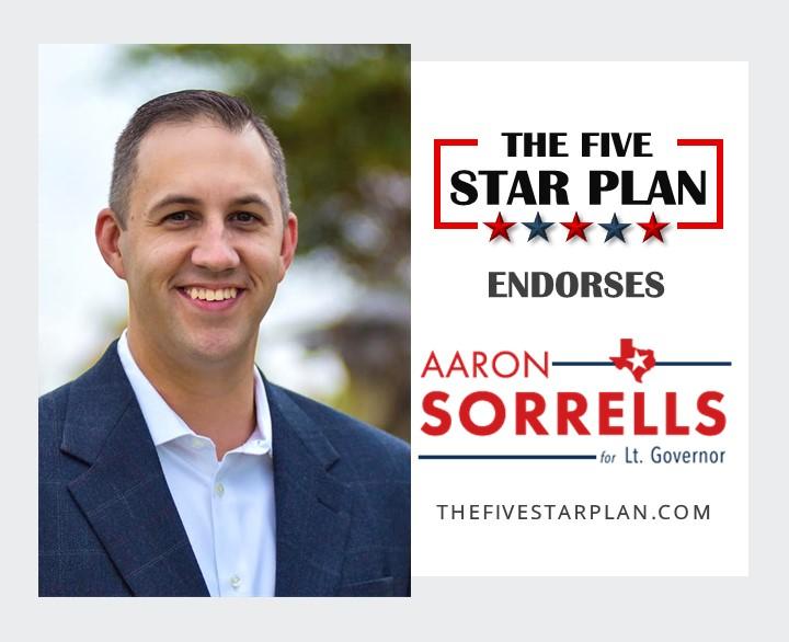 Aaron Sorrells Five Star Candidate For Lt. Governor