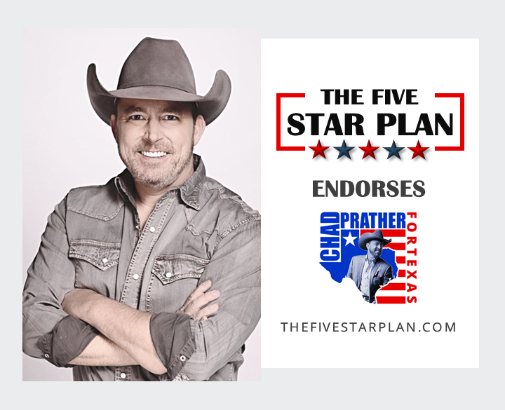 The Five Star Plan Endorses Chad Prather for Governor