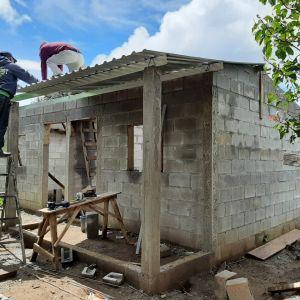 PHOTO: Manuela's home under construction