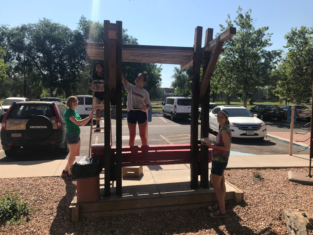PHOTO: Youth Group playground reconstruction
