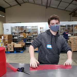PHOTO: working at Food Share